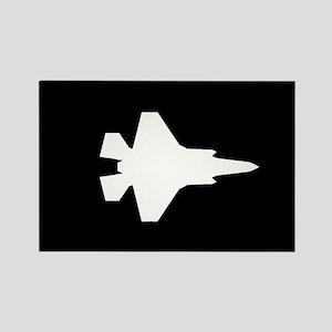 U.S. Military: F-35 Lightning II Rectangle Magnet
