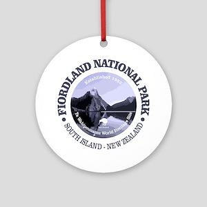 Fiordland NP Round Ornament