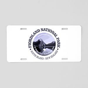 Fiordland NP Aluminum License Plate