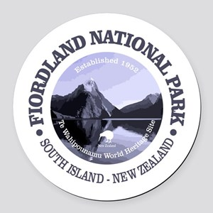 Fiordland NP Round Car Magnet