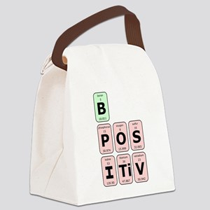 Be Postive Canvas Lunch Bag