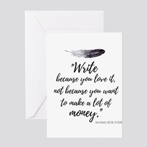 Write for Love theme Greeting Card