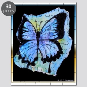 Blue butterfly! Nature art! Puzzle