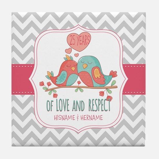 Create Personalized Anniversary Tile Coaster