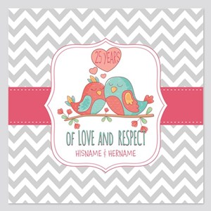 Create Personalized Anniver 5.25 x 5.25 Flat Cards