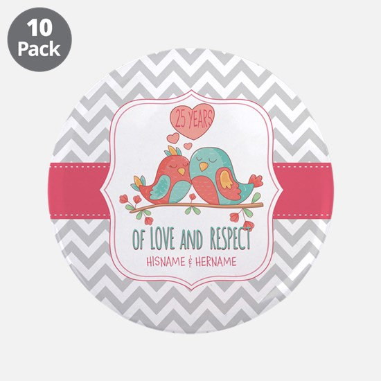 """Create Personalized Annivers 3.5"""" Button (10 pack)"""