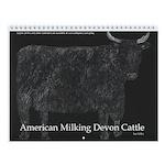 Devon Cattle Wall Calendar