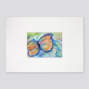 Butterfly, nature art! 5'x7'Area Rug