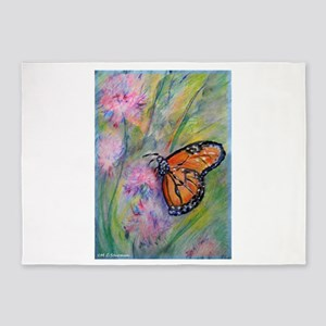 Bright, butterfly, art 5'x7'Area Rug