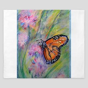 Bright, butterfly, art King Duvet