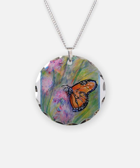 Bright, butterfly, art Necklace