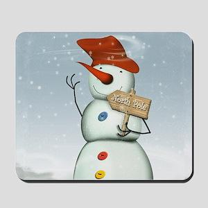 North Pole Bound Snowman Mousepad