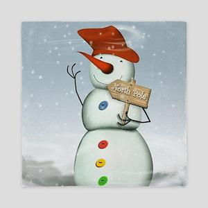 North Pole Bound Snowman Queen Duvet