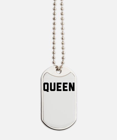 king and queen couple Dog Tags