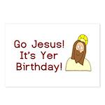 Go Jesus! It's Yer Birthday! Postcards (Package of