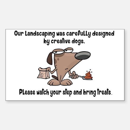 Cute Dog poop Sticker (Rectangle)