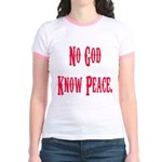 No God, Know Peace Jr. Ringer T-Shirt
