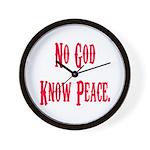 No God, Know Peace Wall Clock