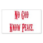 No God, Know Peace Rectangle Sticker
