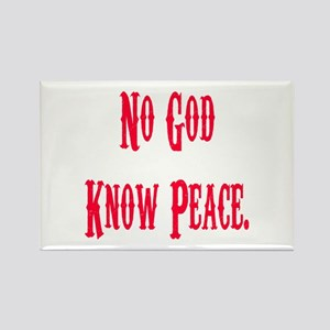 No God, Know Peace Rectangle Magnet