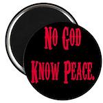 No God, Know Peace Magnet