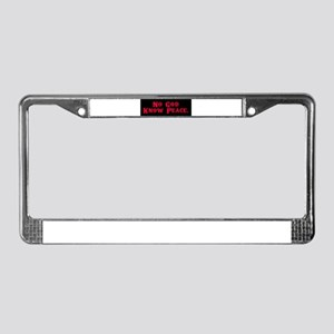 No God, Know Peace License Plate Frame