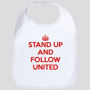 Stand UP and Follow United (Red/White) Baby Bib
