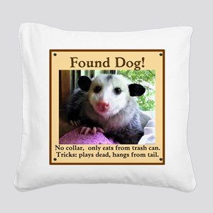 Found Dog Square Canvas Pillow