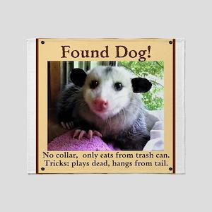 Found Dog Throw Blanket