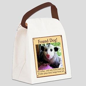 Found Dog Canvas Lunch Bag