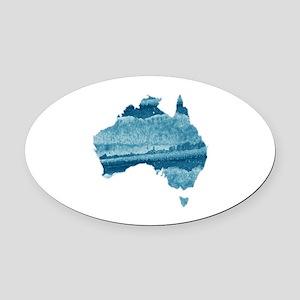 AUSTRALIA Oval Car Magnet