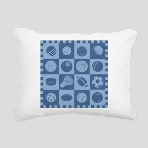 Sports Grid Rectangular Canvas Pillow