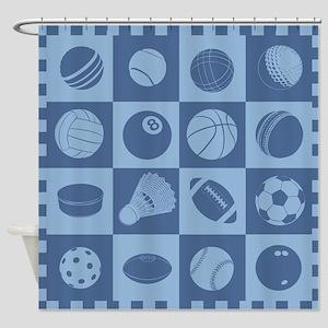 Sports Grid Shower Curtain