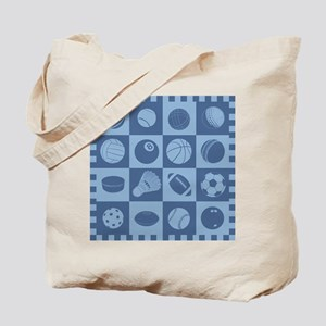 Sports Grid Tote Bag