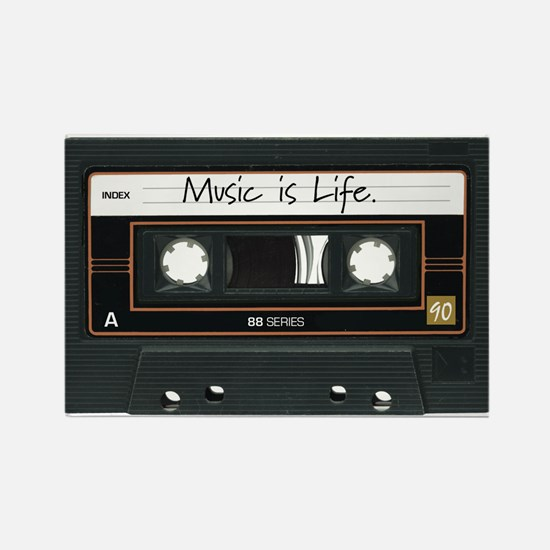 Music is Life. Rectangle Magnet