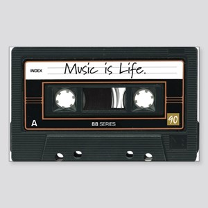 Music is Life. Rectangle Sticker