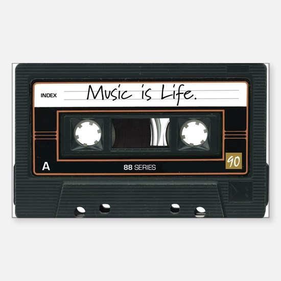 Music is Life. Rectangle Decal