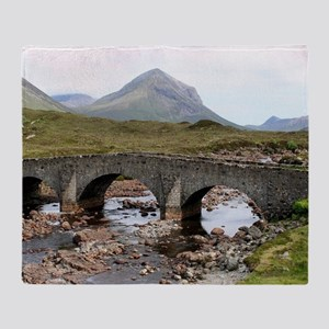 Sligachan Bridge, Isle of Skye, Scot Throw Blanket