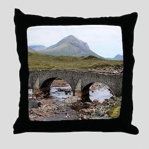 Sligachan Bridge, Isle of Skye, Scotl Throw Pillow