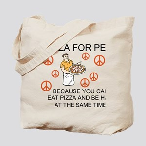 Pizza For Peace! Tote Bag