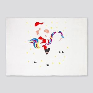 Christmas Unicorn 5'x7'Area Rug