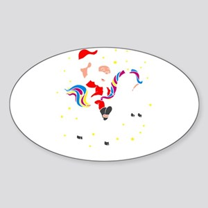 Christmas Unicorn Sticker