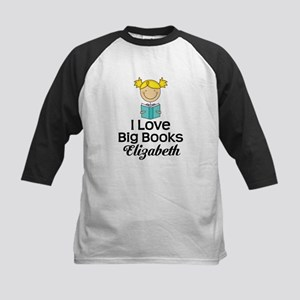 I Love Big Books Personalized Baseball Jersey