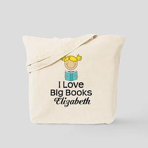 I Love Big Books Personalized Tote Bag