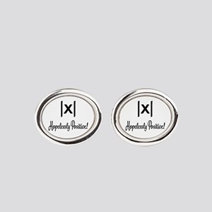 Hopelessly Positive Math Humor Oval Cufflinks