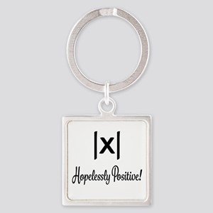 Hopelessly Positive Math Humor Keychains
