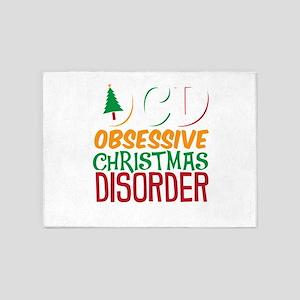 Obsessive Christmas Disorder 5'x7'Area Rug