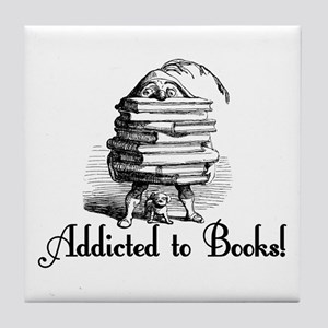 Addicted to Books! Tile Coaster
