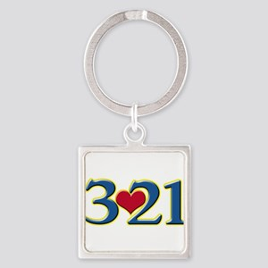 321 Down Syndrome Awareness Day Keychains
