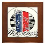Horse Mustang Framed Tile